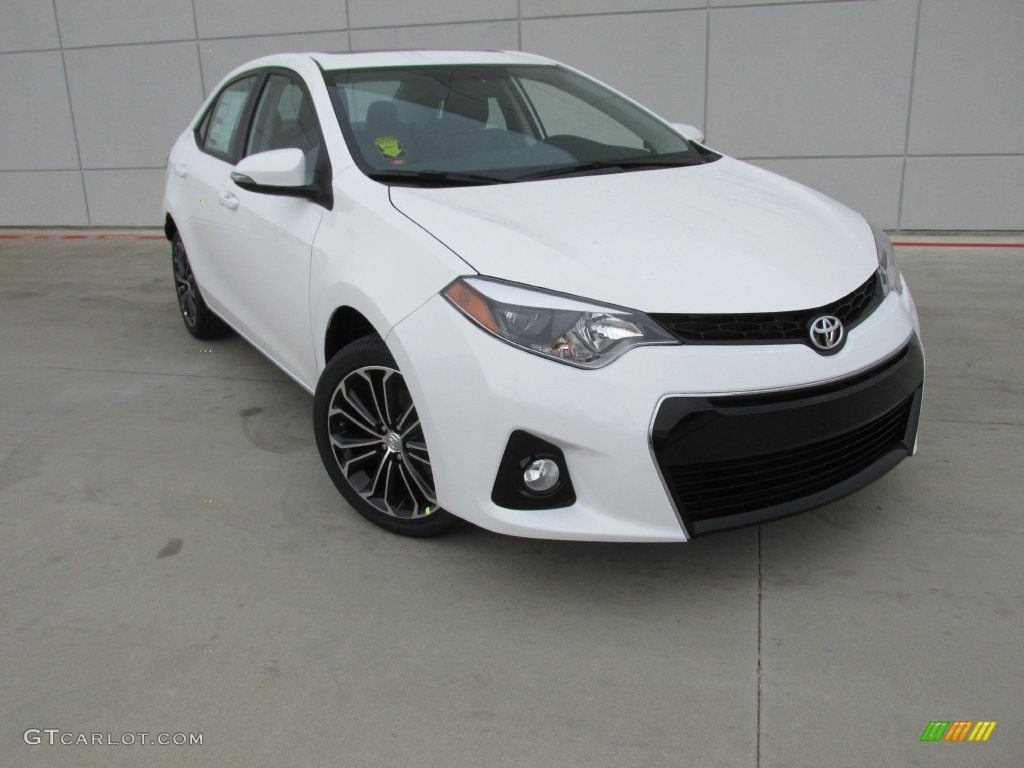 2016 super white toyota corolla s plus 110642638. Black Bedroom Furniture Sets. Home Design Ideas