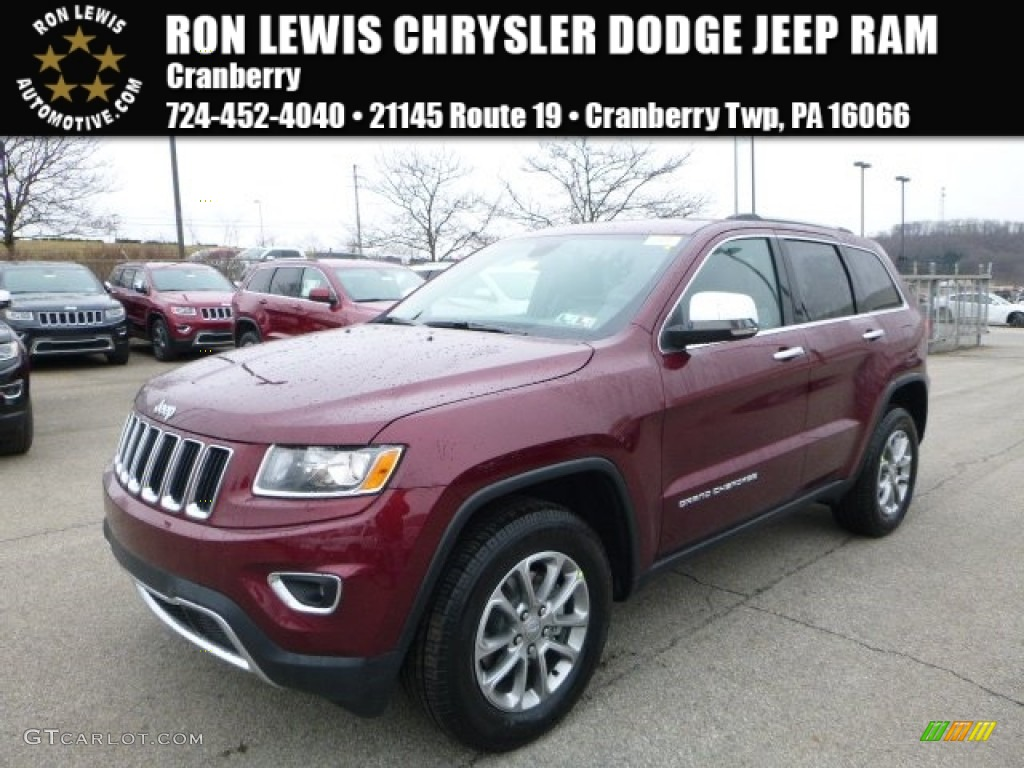 2016 Velvet Red Pearl Jeep Grand Cherokee Limited 4x4
