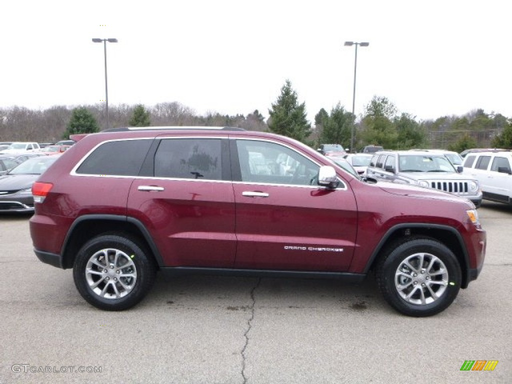2016 Grand Cherokee Limited 4x4 Velvet Red Pearl Black Photo 7