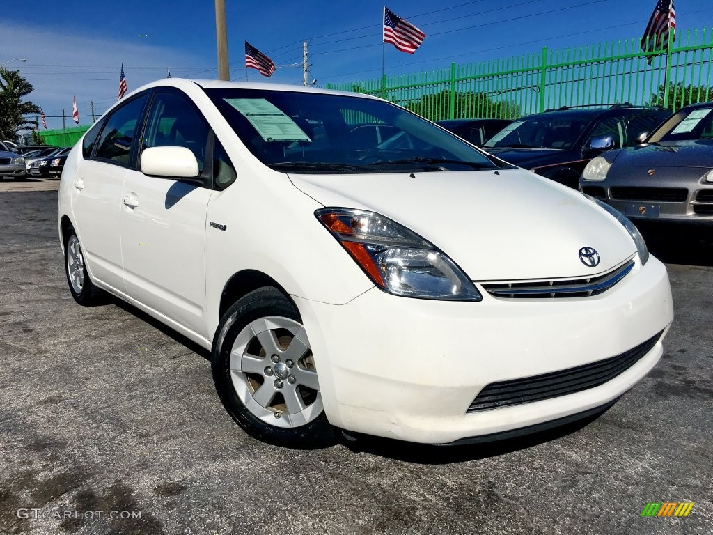 2008 super white toyota prius hybrid touring 110642314. Black Bedroom Furniture Sets. Home Design Ideas