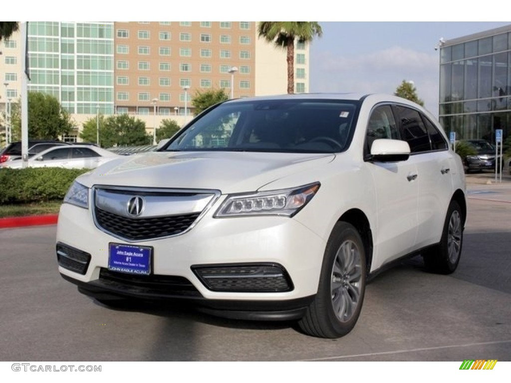 2016 white diamond pearl acura mdx technology 110642386. Black Bedroom Furniture Sets. Home Design Ideas
