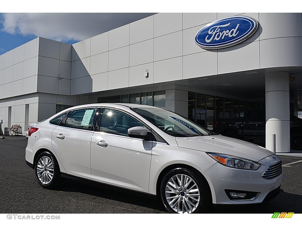 2016 white platinum ford focus titanium sedan 110673364. Black Bedroom Furniture Sets. Home Design Ideas