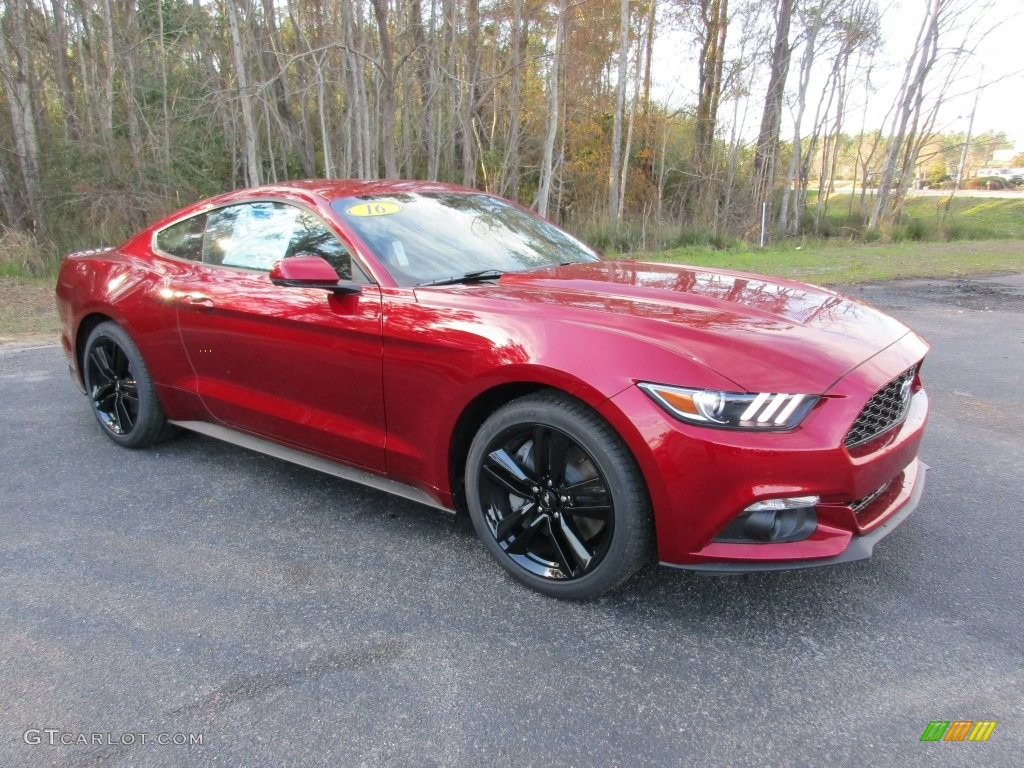 2016 ruby red metallic ford mustang ecoboost premium coupe 110673459 car color. Black Bedroom Furniture Sets. Home Design Ideas