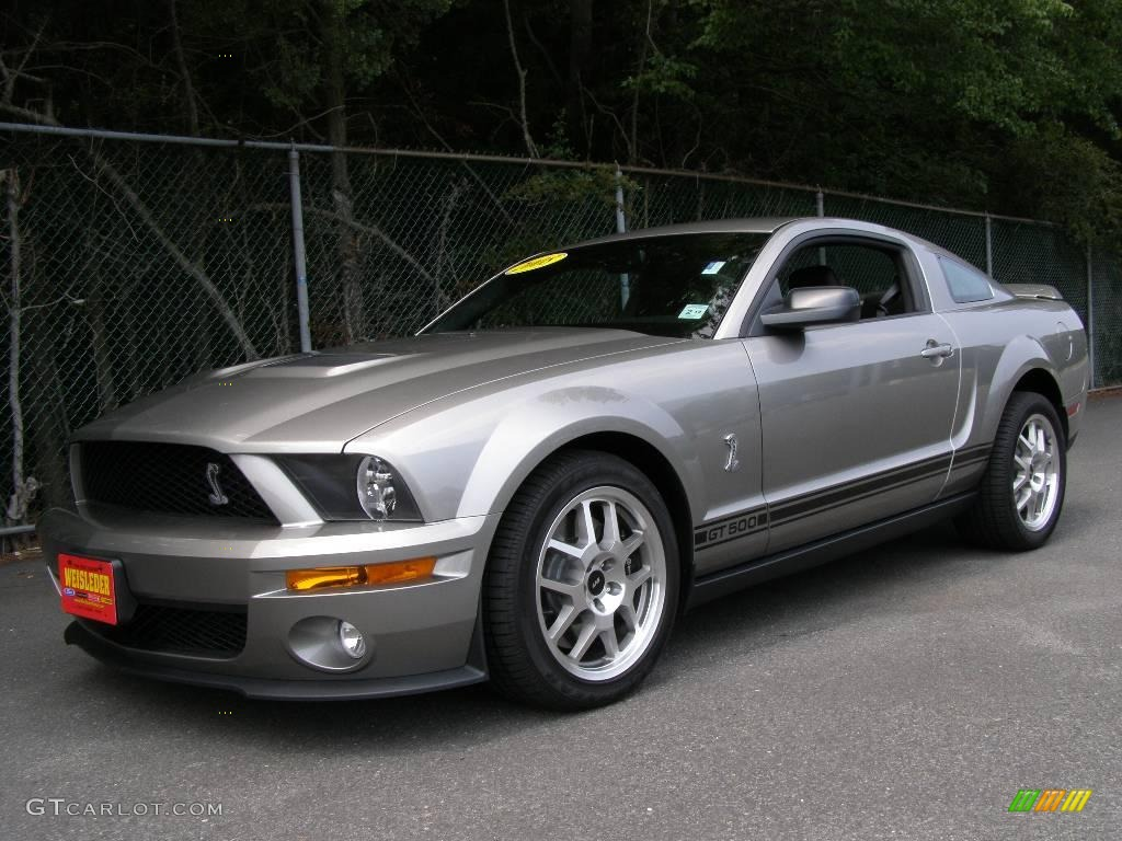 2008 mustang shelby gt500 coupe vapor silver metallic black photo 1