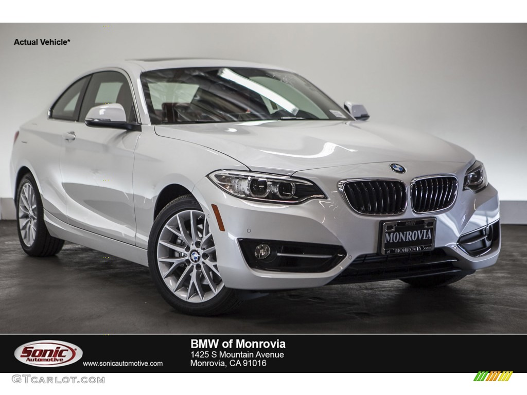 2016 2 Series 228i Coupe Mineral White Metallic C Red Photo 1