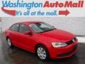 Tornado Red 2012 Volkswagen Jetta SE Sedan