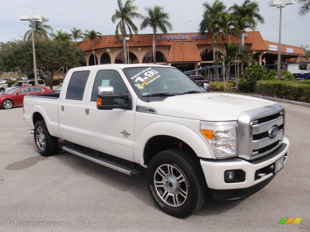 2016 white platinum metallic ford f250 super duty platinum crew cab 4x4 110729527 gtcarlot. Black Bedroom Furniture Sets. Home Design Ideas