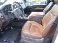 2016 Ford F250 Super Duty Platinum Pecan Interior Interior Photo