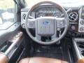 2016 Ford F250 Super Duty Platinum Pecan Interior Steering Wheel Photo