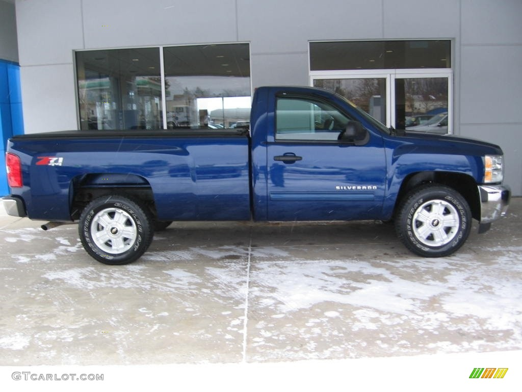 2013 Silverado 1500 LT Regular Cab 4x4 - Blue Topaz Metallic / Ebony photo #2