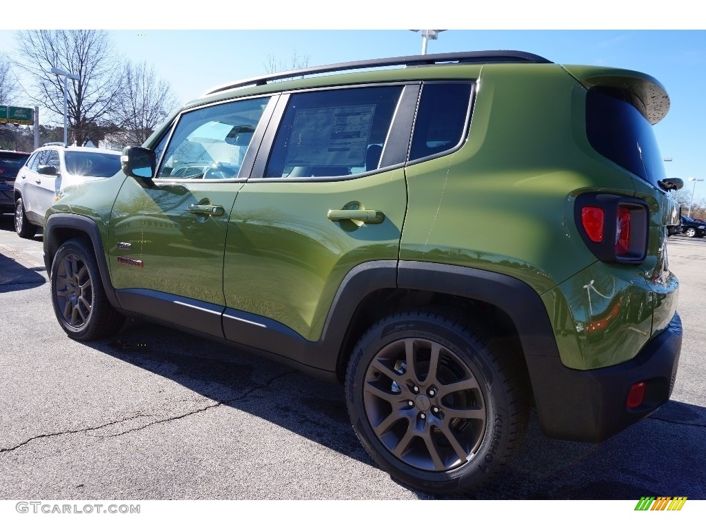 2016 jungle green jeep renegade 75th anniversary. Black Bedroom Furniture Sets. Home Design Ideas