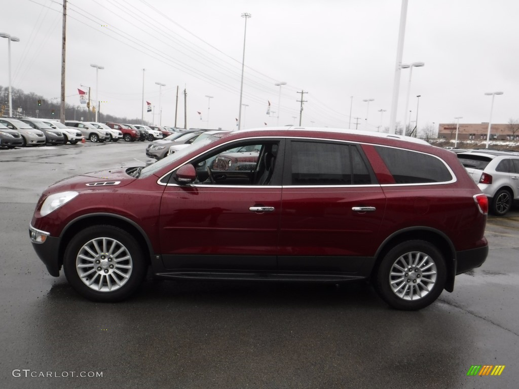 2010 Enclave CXL AWD - Red Jewel Tintcoat / Titanium/Dark Titanium photo #7