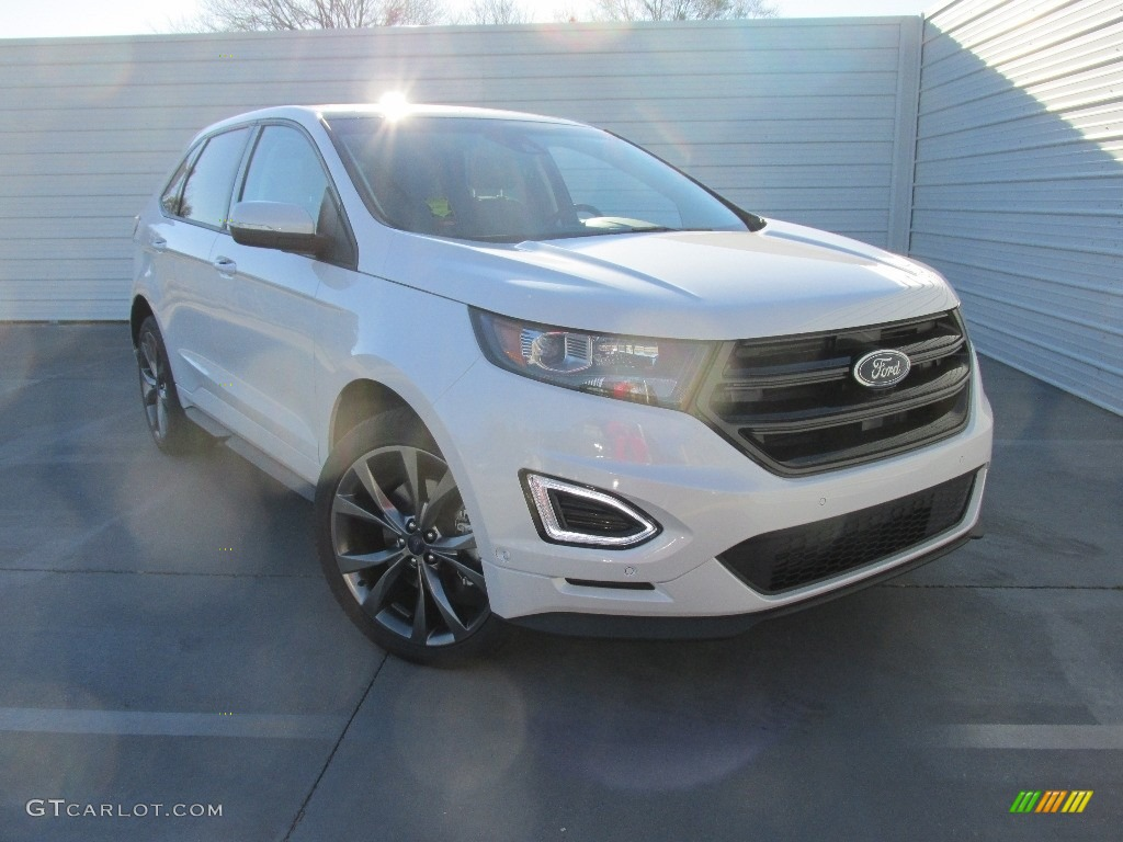 White Platinum Ford Edge
