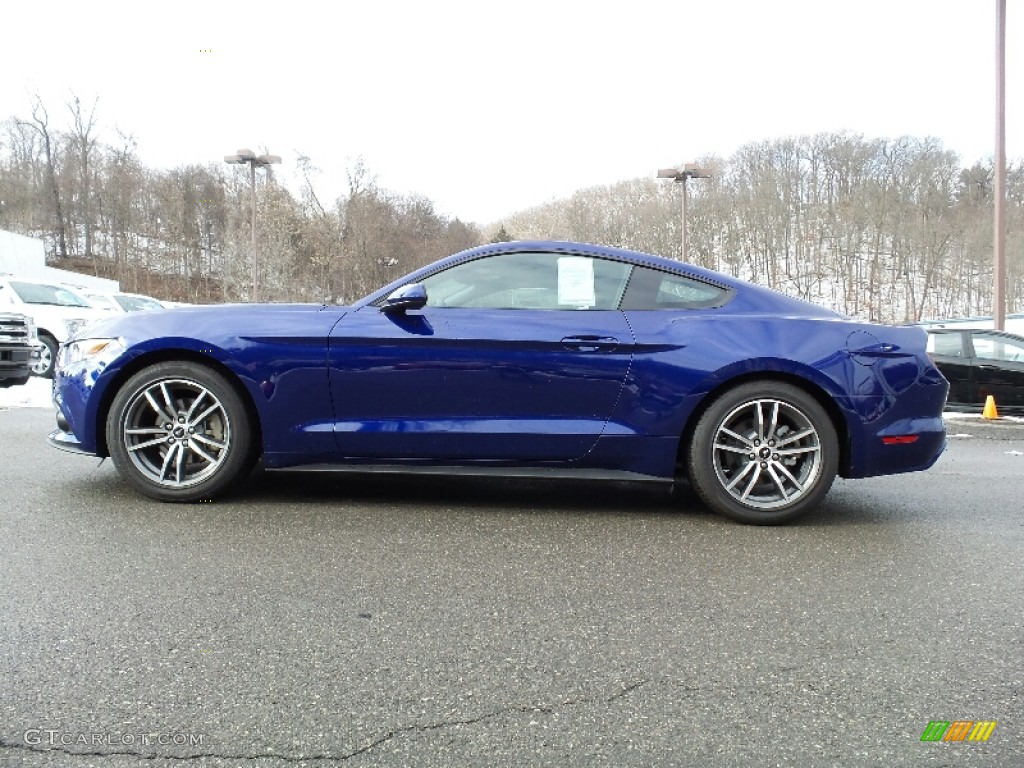 2016 Mustang EcoBoost Coupe - Deep Impact Blue Metallic / Ebony photo #1
