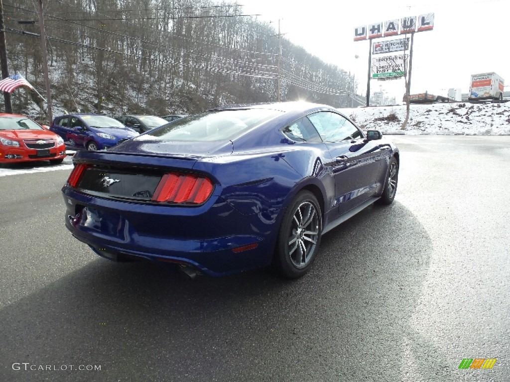 2016 Mustang EcoBoost Coupe - Deep Impact Blue Metallic / Ebony photo #6