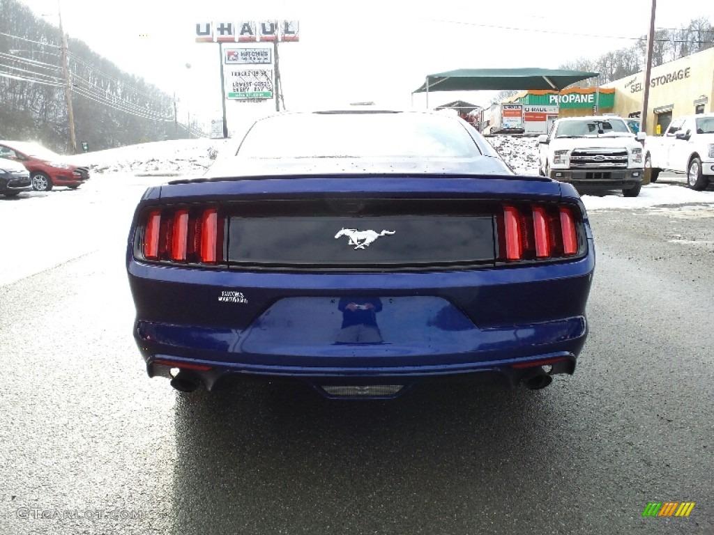 2016 Mustang EcoBoost Coupe - Deep Impact Blue Metallic / Ebony photo #7
