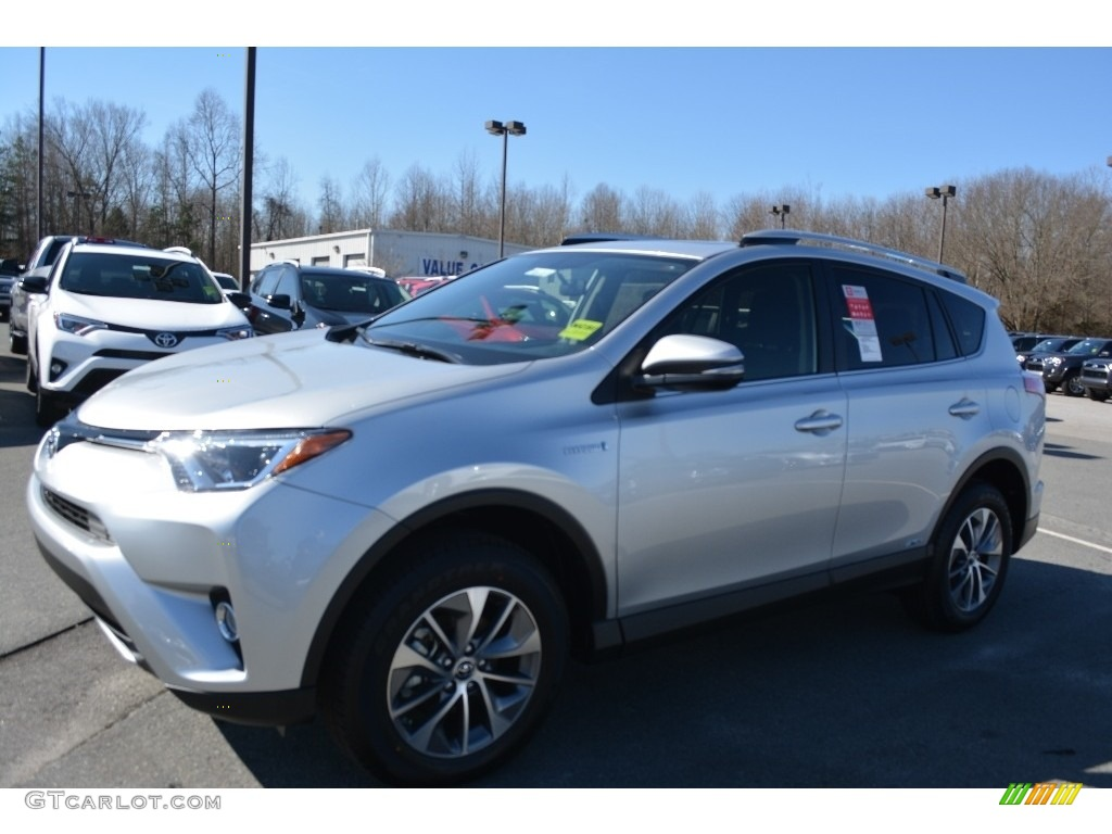 2016 classic silver metallic toyota rav4 xle hybrid awd 110872968 photo 3 car. Black Bedroom Furniture Sets. Home Design Ideas