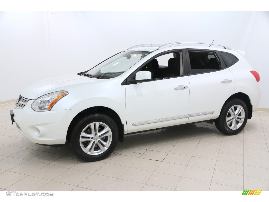 Pearl White 2013 Nissan Rogue Sv Awd Exterior Photo 110907949
