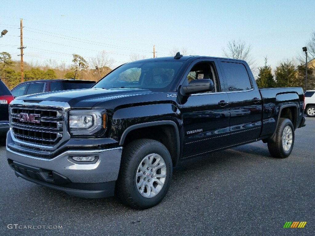 2016 onyx black gmc sierra 1500 sle crew cab 4wd. Black Bedroom Furniture Sets. Home Design Ideas