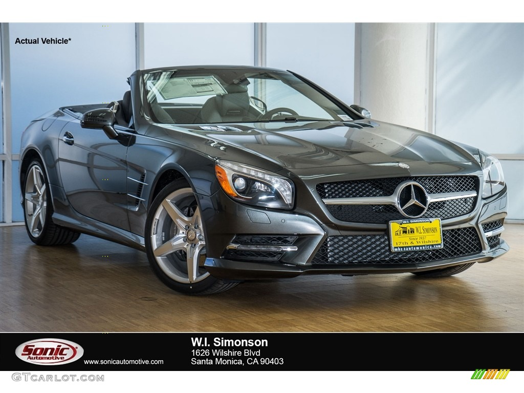 2016 designo graphite metallic mercedes benz sl 400 for Mercedes benz sl roadster