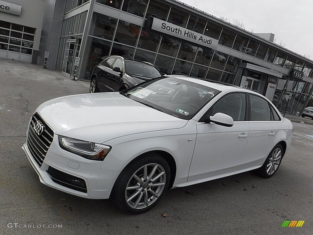 Glacier White Metallic Audi A4