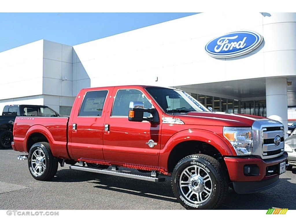2016 ruby red metallic ford f250 super duty platinum crew cab 4x4 110911536. Black Bedroom Furniture Sets. Home Design Ideas