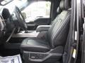 2016 Ford F150 Platinum Black Interior Front Seat Photo