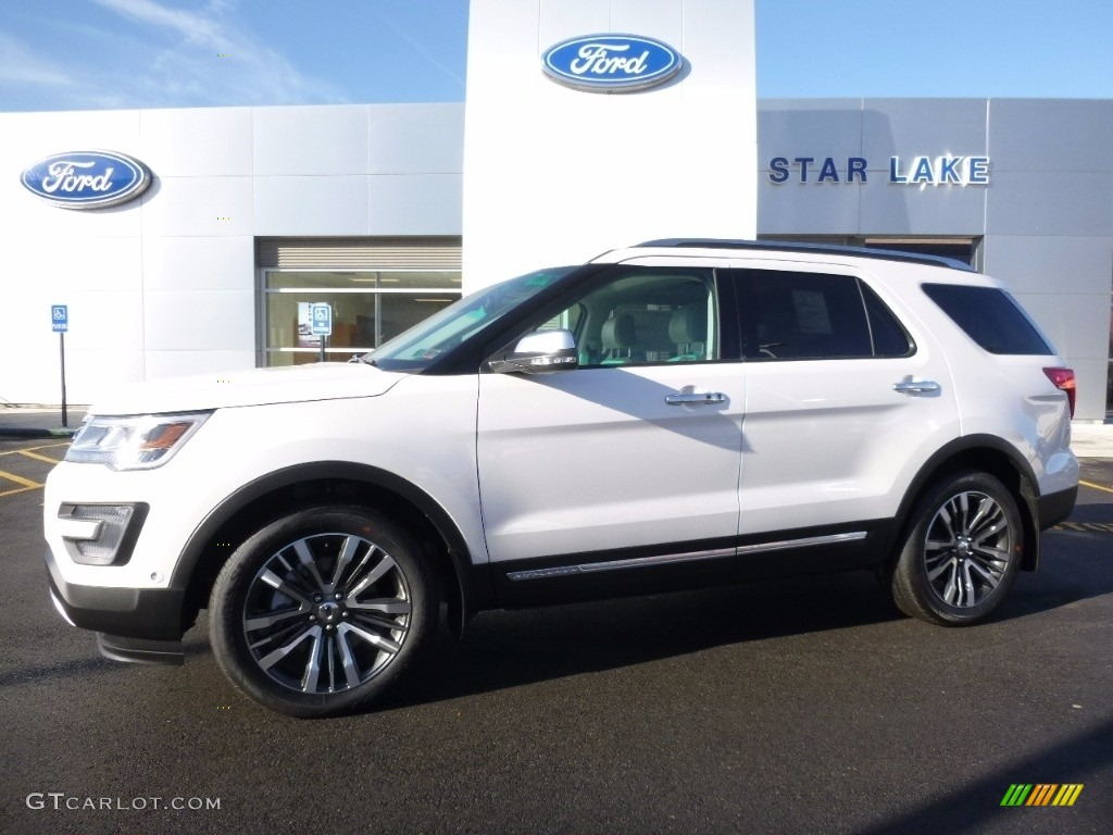 White Platinum Metallic Tri Coat Ford Explorer