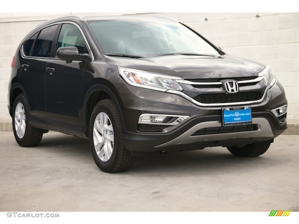 2016 CR-V EX-L - Kona Coffee Metallic / Black photo #1