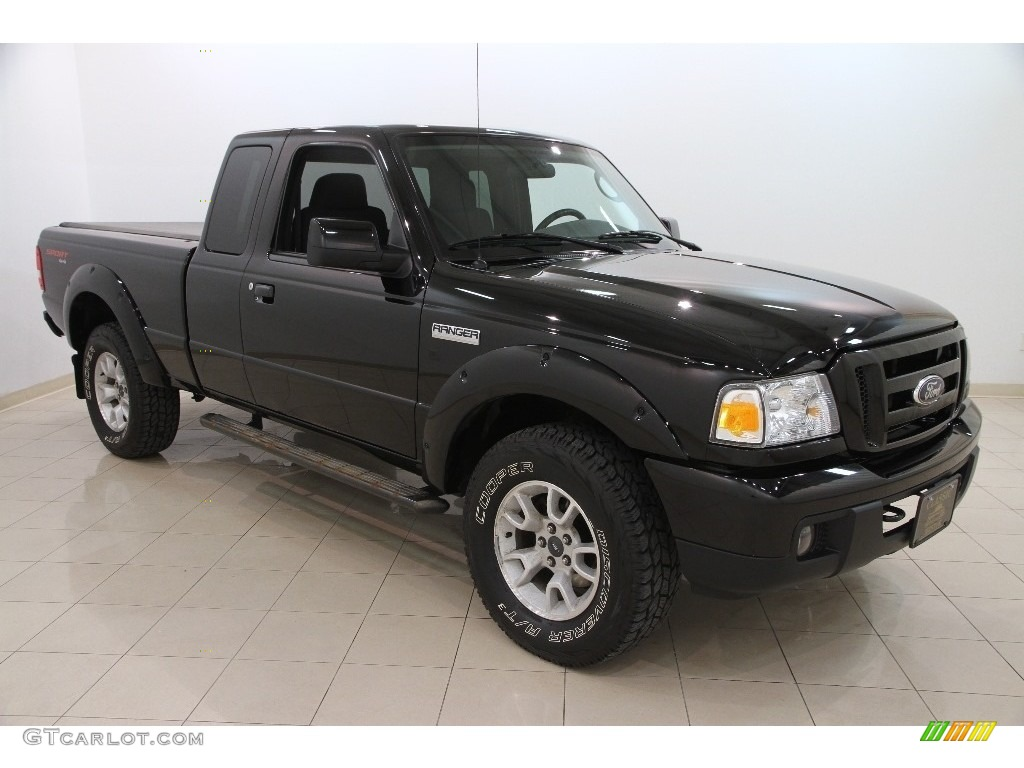 2007 black ford ranger sport supercab 4x4 110971249 car color galleries. Black Bedroom Furniture Sets. Home Design Ideas