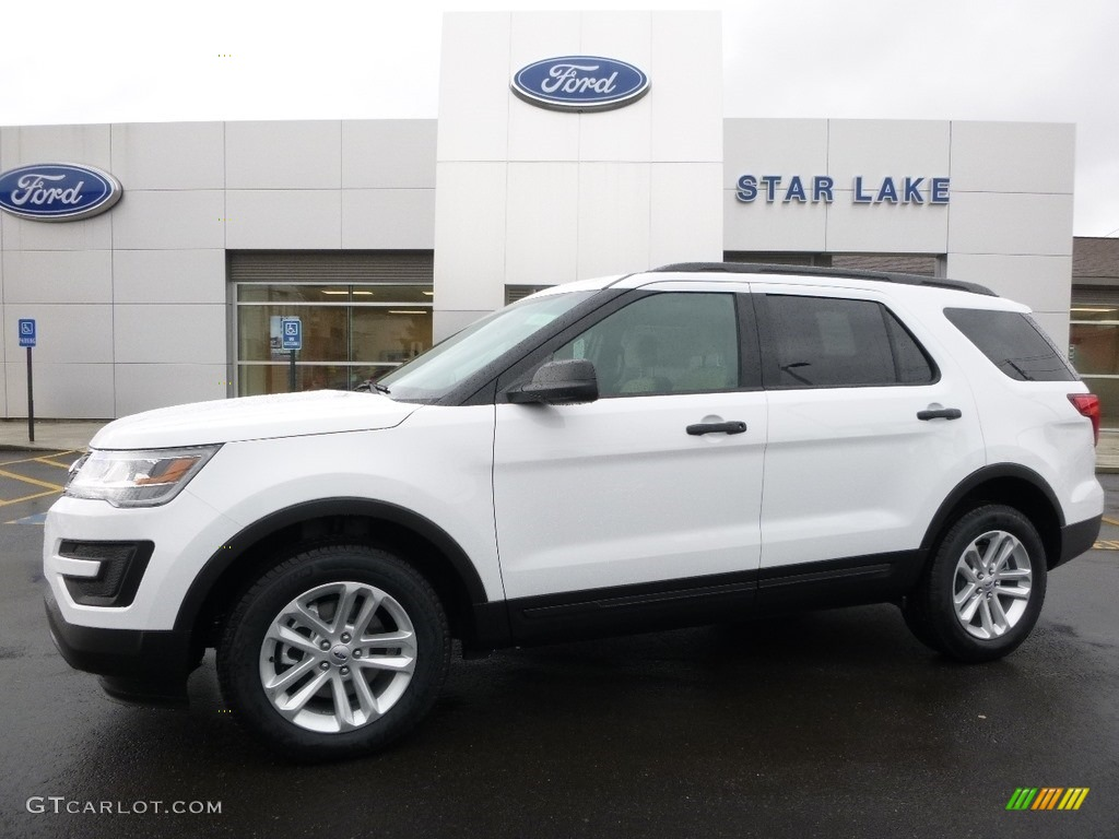 2016 Explorer 4WD - Oxford White / Medium Light Camel photo #1