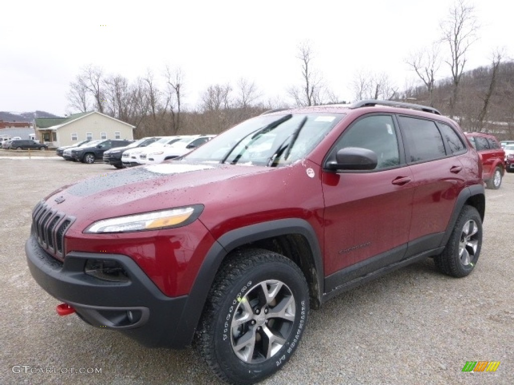 2016 deep cherry red crystal pearl jeep cherokee trailhawk 4x4 111066372 car. Black Bedroom Furniture Sets. Home Design Ideas