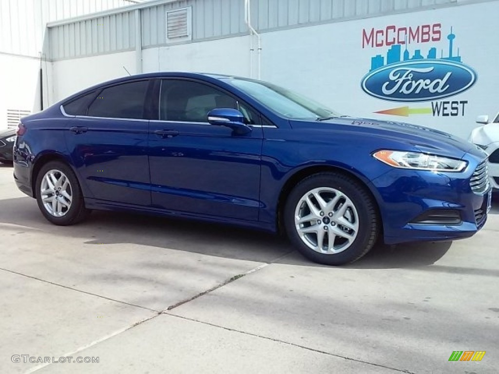 2016 Deep Impact Blue Metallic Ford Fusion Se 111066088