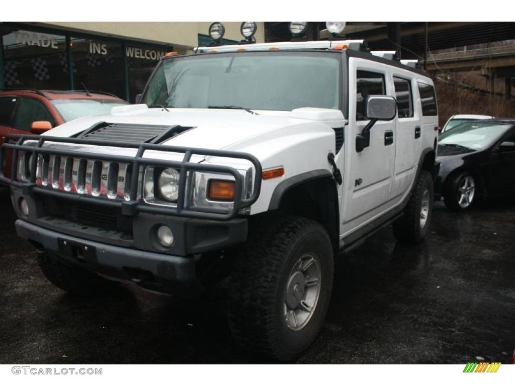 2003 H2 SUV - White / Black photo #1