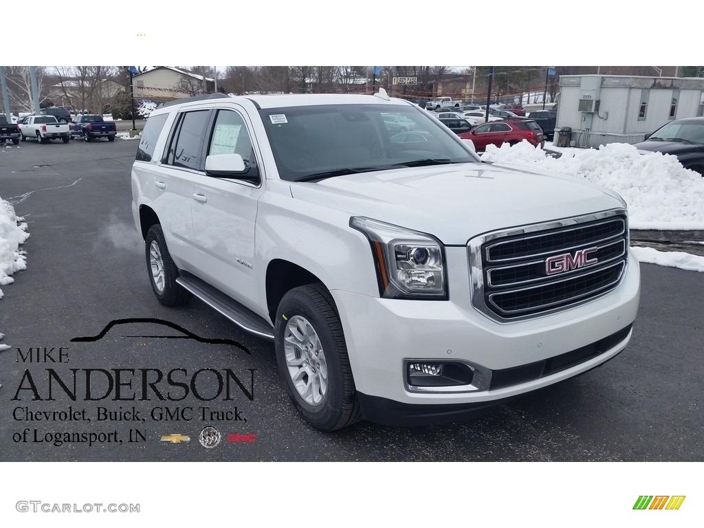 2016 White Frost Tricoat Gmc Yukon Slt 111105886