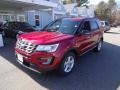 2016 Ruby Red Metallic Tri-Coat Ford Explorer XLT 4WD  photo #3