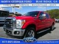 2014 Vermillion Red Ford F250 Super Duty Lariat Crew Cab 4x4 #111105669