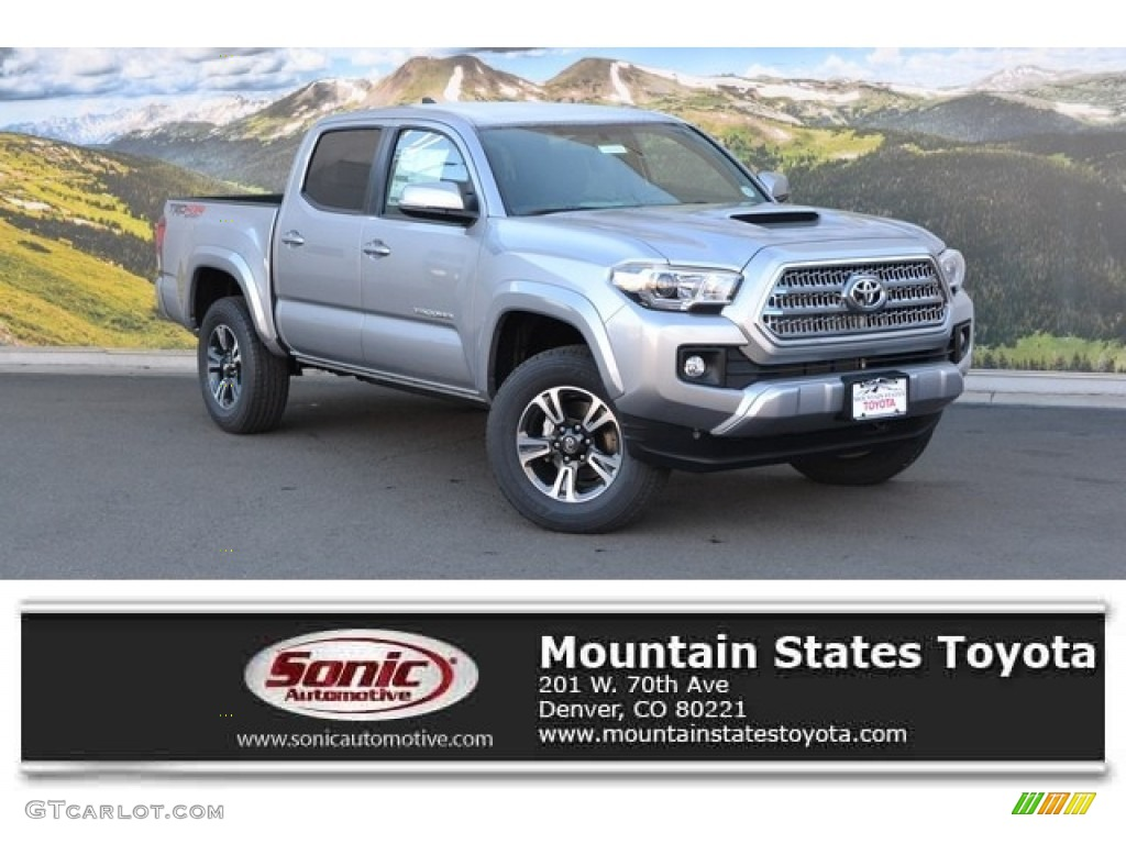 2016 Silver Sky Metallic Toyota Tacoma Trd Sport Double Cab 4x4 111130729