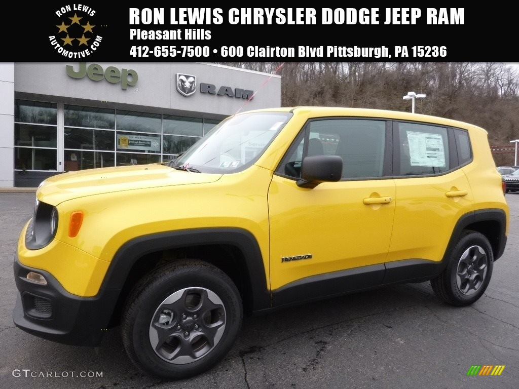 2016 solar yellow jeep renegade sport 4x4 111213696 car color galleries. Black Bedroom Furniture Sets. Home Design Ideas