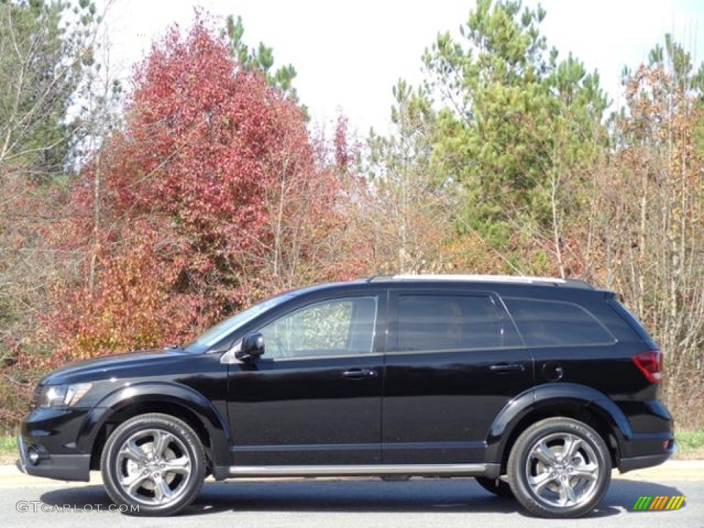 Dodge Journey Crossroad Interior >> 2016 Pitch Black Dodge Journey Crossroad Plus #111213031 | GTCarLot.com - Car Color Galleries