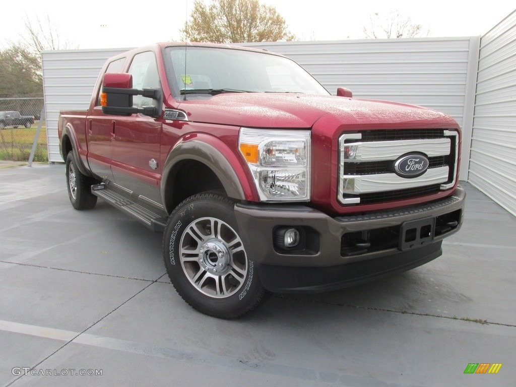 2016 ruby red metallic ford f250 super duty king ranch crew cab 4x4 111213632. Black Bedroom Furniture Sets. Home Design Ideas