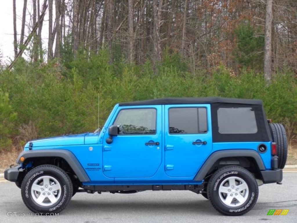 2016 hydro blue pearl jeep wrangler unlimited sport 4x4 111213233 car color. Black Bedroom Furniture Sets. Home Design Ideas