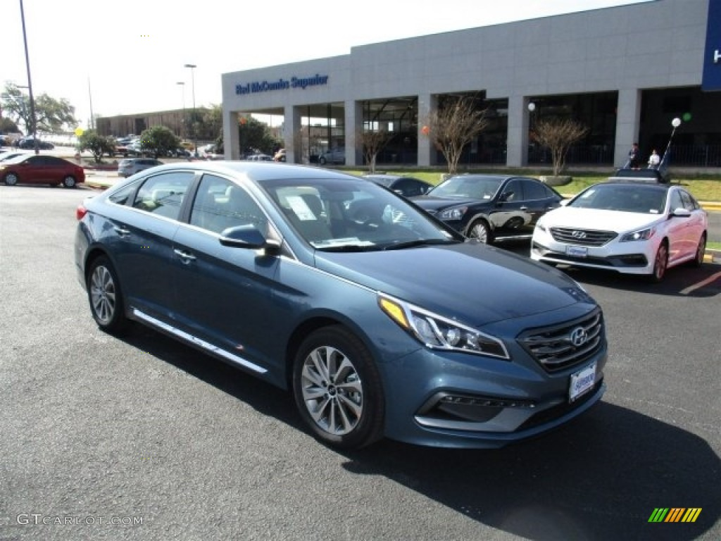 2016 Sonata Sport Nouveau Blue Beige Photo 1
