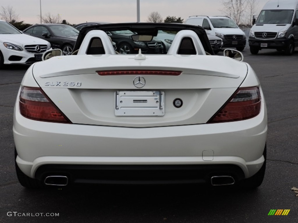 2014 SLK 250 Roadster - Diamond White Metallic / Sahara Beige photo #4