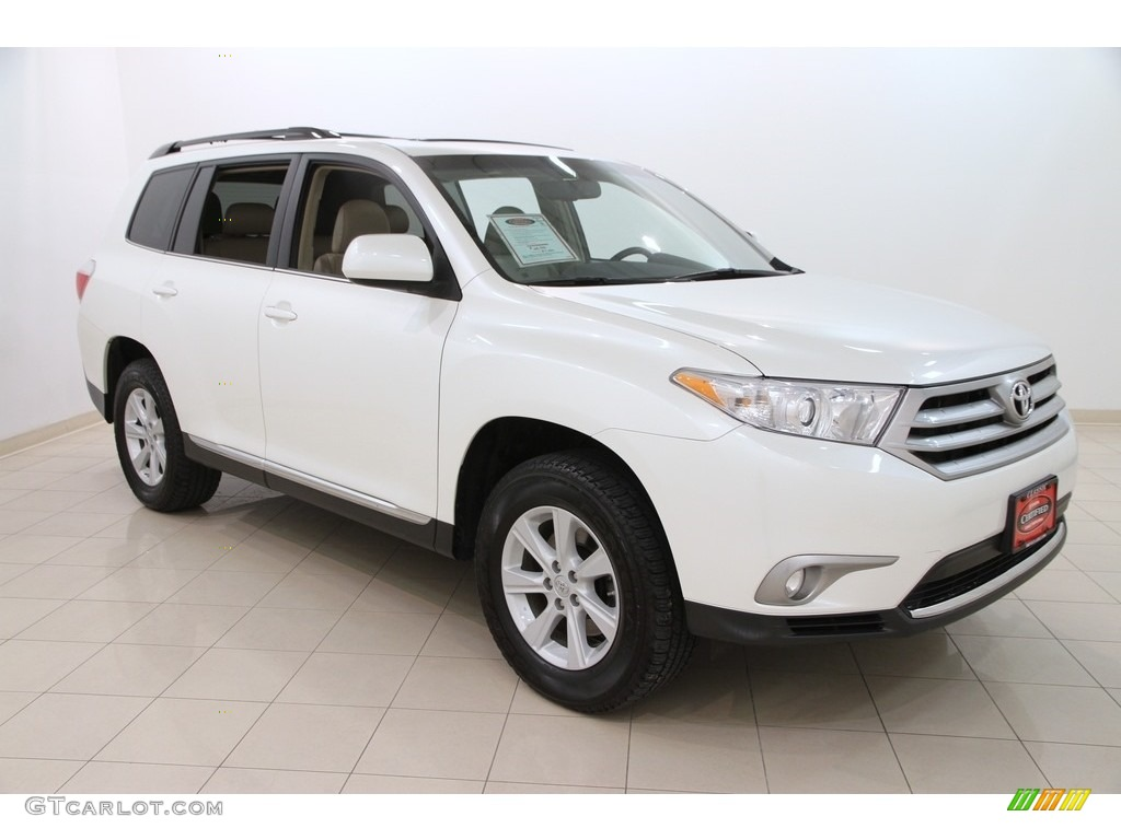 2013 blizzard white pearl toyota highlander se 4wd 111328556 photo 5 car. Black Bedroom Furniture Sets. Home Design Ideas
