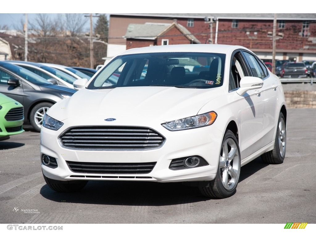 2016 white platinum tri coat metallic ford fusion se awd 111328425 car color. Black Bedroom Furniture Sets. Home Design Ideas
