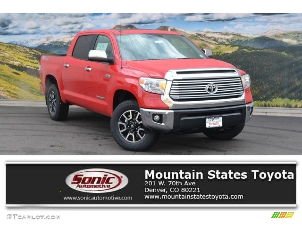 2016 Tundra Limited CrewMax 4x4 - Radiant Red / Graphite photo #1