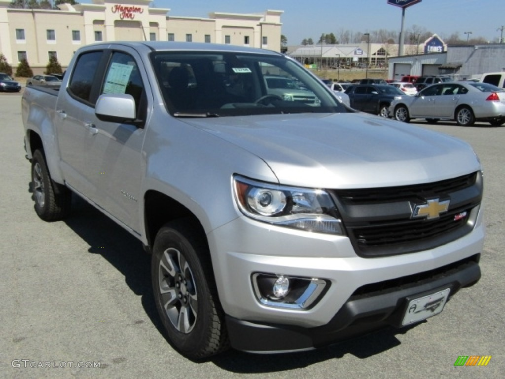 2016 silver ice metallic chevrolet colorado z71 crew cab 4x4 111352233 car. Black Bedroom Furniture Sets. Home Design Ideas