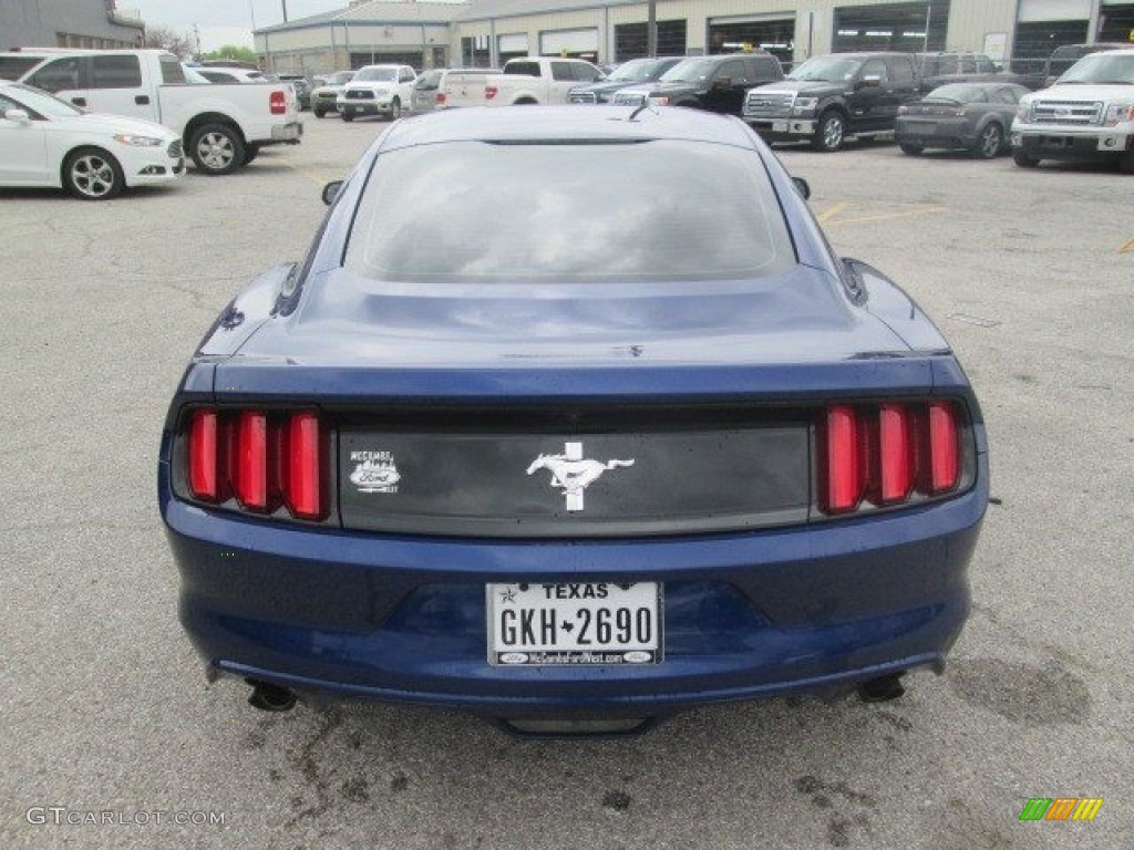 2016 Mustang V6 Coupe - Deep Impact Blue Metallic / Ebony photo #8