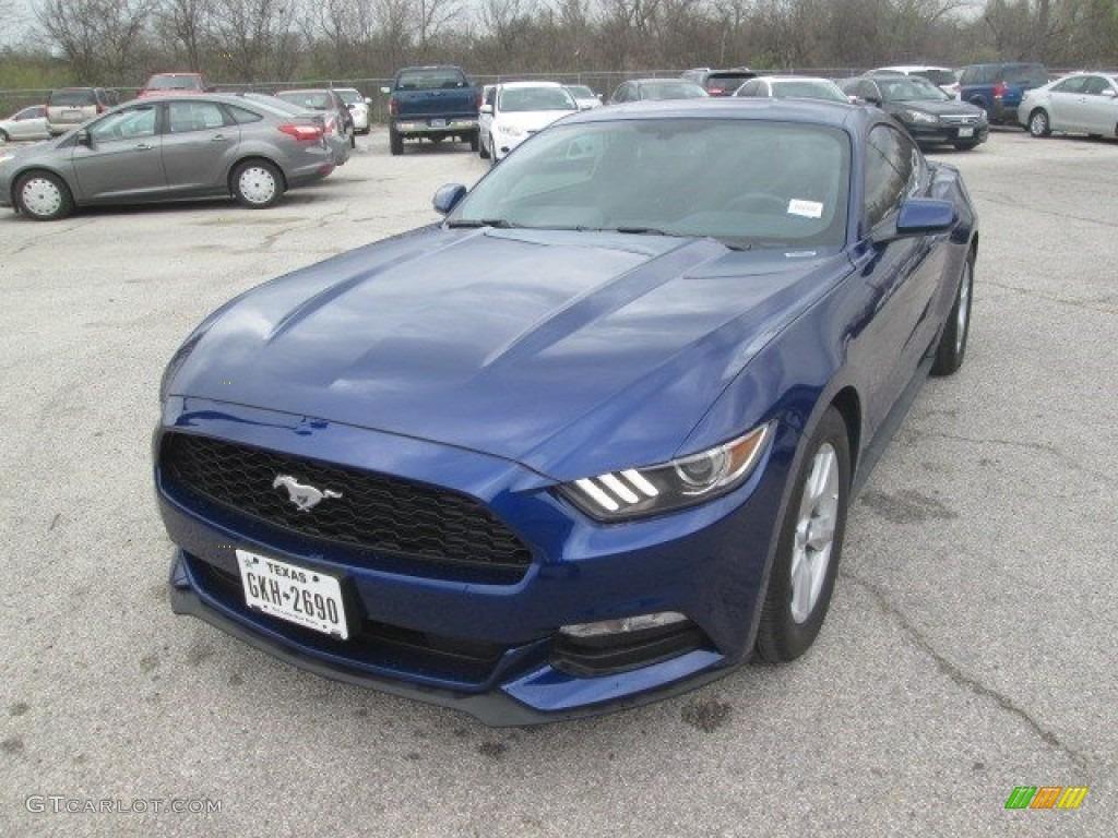 2016 Mustang V6 Coupe - Deep Impact Blue Metallic / Ebony photo #14